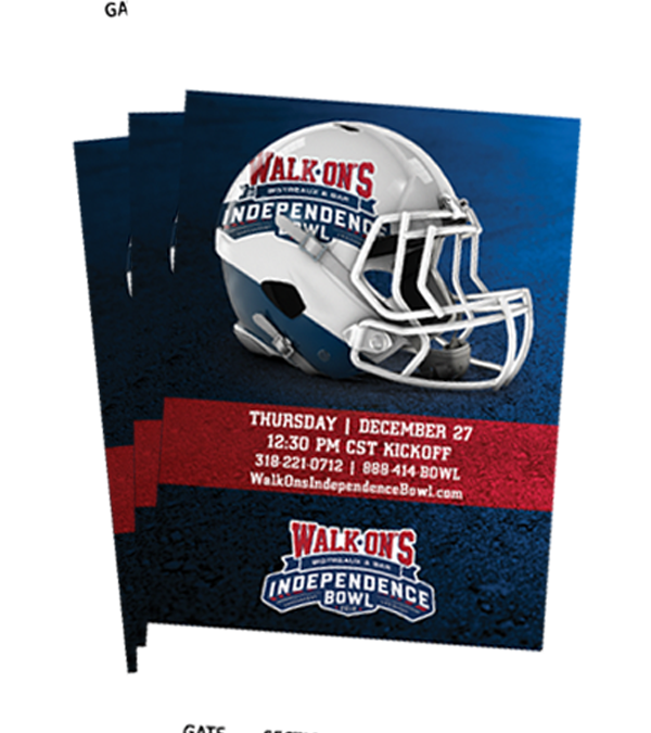 Public Tickets for 2018 Walk-On's Independence Bowl on Sale Beginning September 1