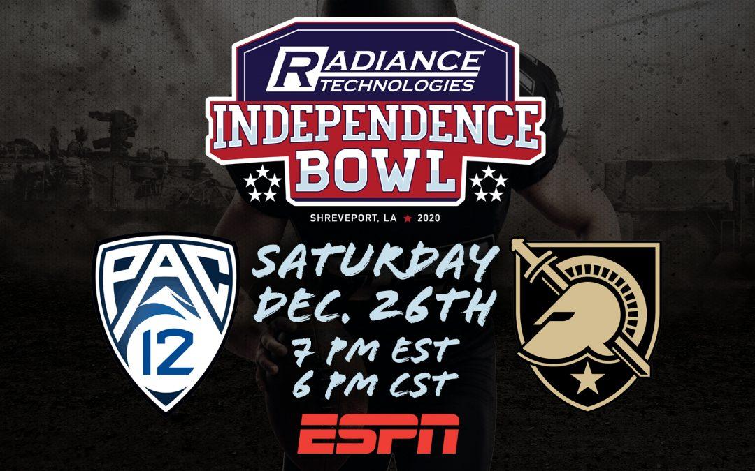 2020 Radiance Technologies Independence Bowl Set for Saturday, December 26